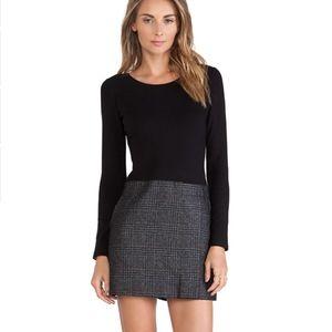 Theory Bowmont Black/Plaid  Dress
